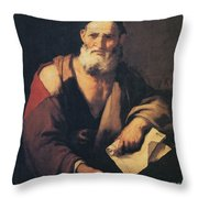 Leucippus, Ancient Greek Philosopher Throw Pillow by Science Source
