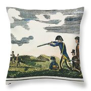 Lewis & Clark: Native American, 1811 Throw Pillow