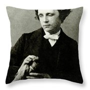 Lewis Carroll, English Author Throw Pillow by Photo Researchers