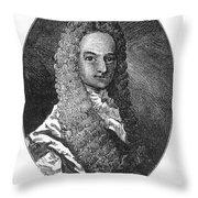 Lewis Morris (1671-1746) Throw Pillow by Granger