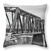 Lewiston-auburn Railroad Bridge Throw Pillow
