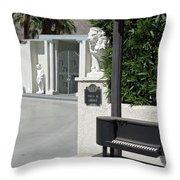 Liberace's Driveway Throw Pillow