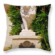Liberace's Lion Throw Pillow