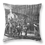Liberating Slaves, 1864 Throw Pillow
