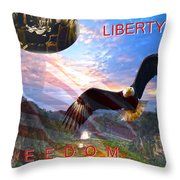 Liberty And Freedom Throw Pillow