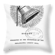 Liberty Bell, 1839 Throw Pillow
