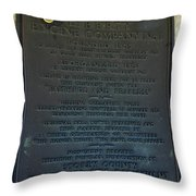 Liberty Engine Company Throw Pillow