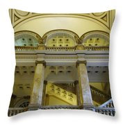 Library 4 Throw Pillow
