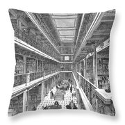 Library Of Congress, 1880 Throw Pillow by Granger