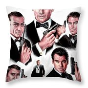 Licence To Kill  Digital Throw Pillow by Andrew Read
