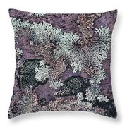 Lichen Pattern Series - 57 Throw Pillow