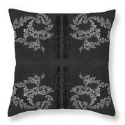 Licorice And Lace Throw Pillow