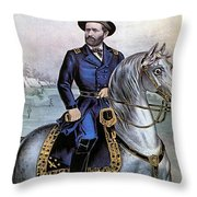 Lieutenant General Ulysses S Grant Throw Pillow by Photo Researchers