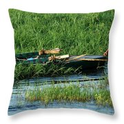 Life Along The Nile Throw Pillow