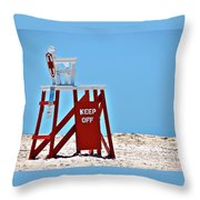 Life Guard Stand Throw Pillow