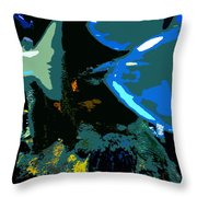 Life In The Sea Throw Pillow