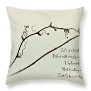 Life Is A Tangle Throw Pillow