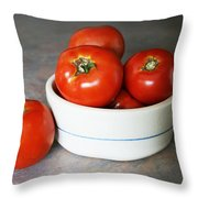 Life Is Not A Bowl Of Cherries - Life Is A Bowl Of Tomatoes Throw Pillow