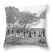 Life-sized Chess, 1882 Throw Pillow