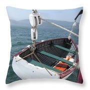 Lifeboat From The Schooner Margaret Todd Throw Pillow