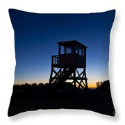 Lifeguard Stand At Dawn Throw Pillow