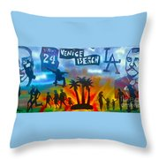 Life's A Beach Throw Pillow by Tony B Conscious