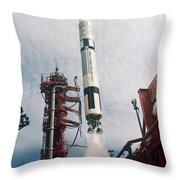 Lift-off Of Gemini-titan 11, Cape Throw Pillow