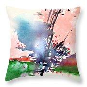 Light 2 Throw Pillow by Anil Nene