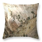 Light And Shadows In The Grand Canyon In Yellowstone Throw Pillow