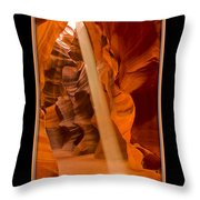 Light Beam With Border Throw Pillow