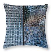 Light Blue And Brown Textural Abstract Throw Pillow
