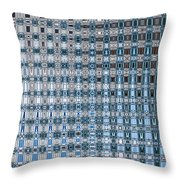 Light Blue And Gray Abstract Throw Pillow