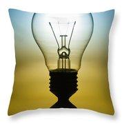 Light Bulb Throw Pillow by Setsiri Silapasuwanchai