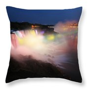 Light From The Canadians Throw Pillow