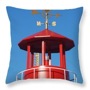 Light House On Coney Island Throw Pillow