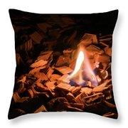 Light Of Fire Creates Coziness ... Throw Pillow