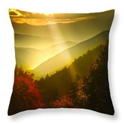 Light On The Moutain Throw Pillow