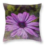 Light Purple Daisy Throw Pillow