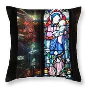 Light Reflecting Through The Window And Reflecting On A Wall Throw Pillow