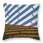 Light Struck Throw Pillow