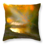 Light Up The Creek Throw Pillow