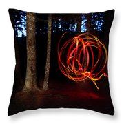 Light Writing In Woods Throw Pillow