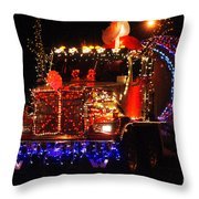 Lighted Cement Truck Throw Pillow