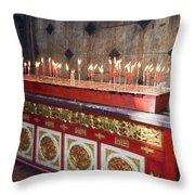 Lighted Incense Sticks Throw Pillow