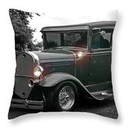 Lighted Old Black And White Throw Pillow