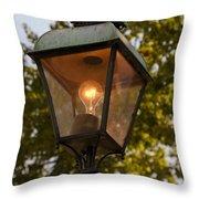 Lighted Street Lamppost Throw Pillow