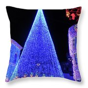 Lighted Xmas Tree Walt Disney World Throw Pillow