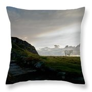 Lighthouse And Horse Throw Pillow