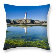 Lighthouse And Tide Pool Throw Pillow