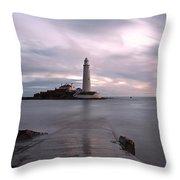Lighthouse Before Sunrise Throw Pillow